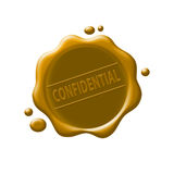 Confidential. Wax seal on isolated background Stock Photos
