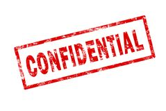 Confidential. A grunge stamp image of the word confidential Stock Photography