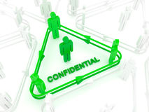 Confidential. Ity network for sharing files or info Stock Image
