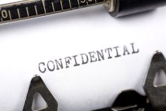 Confidential Royalty Free Stock Photography