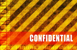 Confidential. Business Documents as a Warning Art Stock Image