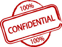Confidential. An illustrated stamp that says that something is confidential. All on white background Royalty Free Stock Image