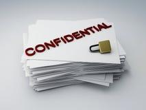 Confidential archive. Image of confidential archive paper, 3d illustration Stock Photos
