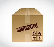 Confidential box illustration design Royalty Free Stock Photo