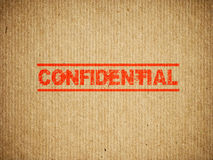 Confidential box Royalty Free Stock Photography