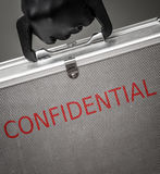 Confidential briefcase. For security concept royalty free stock images