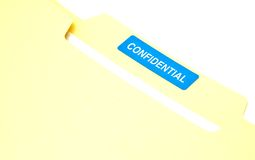 Confidential Business Document File. Documents in a confidential file folder Royalty Free Stock Photos