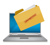 Confidential computer files illustration. Design Royalty Free Stock Photo