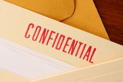 Confidential contents 1 Royalty Free Stock Photography