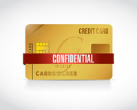 Confidential credit card information illustration Stock Photos