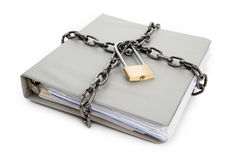 Confidential Document. Lock and file folder, concept of Confidential Document Royalty Free Stock Photo