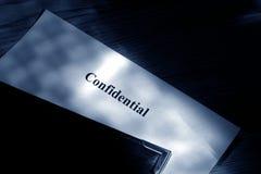 confidential document Fotografering för Bildbyråer