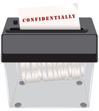 Confidential documents in the shredder Royalty Free Stock Images