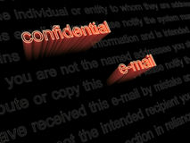 Confidential e-mail diclaimer Royalty Free Stock Image