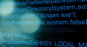 Confidential email infected by trojan virus Stock Photos