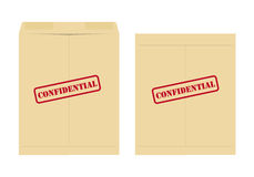 Confidential envelope. Two confidential envelope, one open and one closed Royalty Free Stock Photo