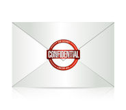 Confidential and envelope illustration design Royalty Free Stock Photos
