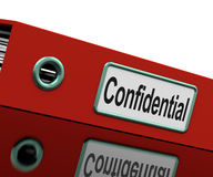 Confidential File Shows Private Correspondence Stock Photo