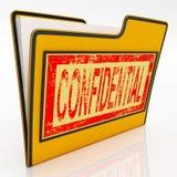 Confidential File Shows Secret Document Stock Image