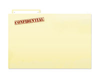Confidential Folder File. Confidential file with slight grunge Stock Photo