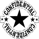 Confidential - grungy black ink stamp Royalty Free Stock Images