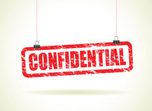 Confidential hanging sign Royalty Free Stock Photography