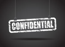 Confidential hanging sign Royalty Free Stock Photo