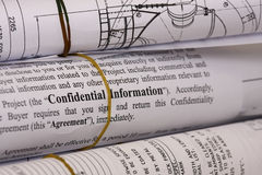 Confidential information Royalty Free Stock Photography