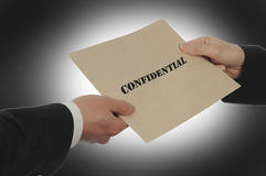 Confidential Information Exchagne Royalty Free Stock Photography