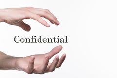 Confidential information isolated on white backgro Royalty Free Stock Photos