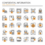 Confidential Information. Thin Line and Pixel Perfect Icons Royalty Free Stock Photo