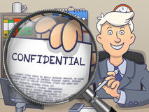 Confidential through Lens. Doodle Style. Royalty Free Stock Photography
