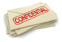 Confidential letters  (clipping path included) Stock Photos
