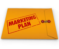 Confidential Marketing Plan Envelope Secret Strategy Stock Image