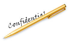 Confidential message Stock Photography