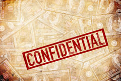 Confidential, NDA. Confidential information with loads of money involved. NDA. non disclosure agreement Royalty Free Stock Photos