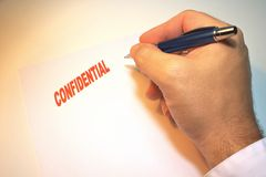 Confidential Notice Royalty Free Stock Photography