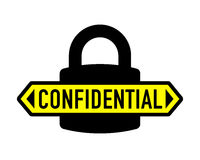 Confidential padlock security vector icon Royalty Free Stock Images