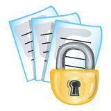 Confidential papers icon. Stylized icon of confidential papers (File 10 of 20 in this series Stock Images
