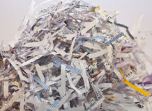 Confidential paperwork. Some confidential paperwork, shredded to avoid identity theft Royalty Free Stock Photography