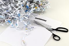 Confidential paperwork Stock Photo