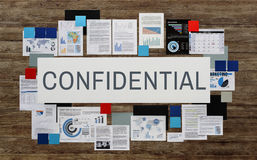 Confidential Personal Privacy Private Restricted Concept Stock Image