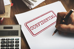 Confidential Personal Privacy Private Restricted Concept stock photo