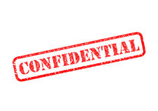 CONFIDENTIAL. `CONFIDENTIAL` Red Stamp over a white background Royalty Free Stock Photography
