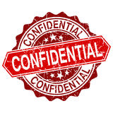 Confidential red vintage stamp. Isolated on white background Royalty Free Stock Image