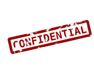 Confidential rubber ink stamp Stock Image