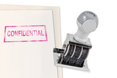 Confidential Rubber Stamp Stock Photos
