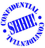Confidential Rubber Stamp stock illustration
