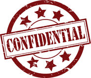 Confidential Rubber Stamp (Vector). A Red 'Confidential' Rubber Stamp Vector Illustration Royalty Free Stock Photo