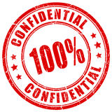 100 confidential rubber stamp. Vector illustration royalty free illustration